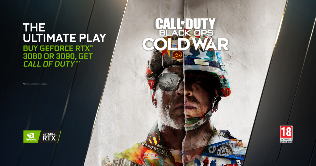 "GeForce RTX 3080-3090 satın alanlara ""Call of Duty: Black Ops Cold War"" hediye"