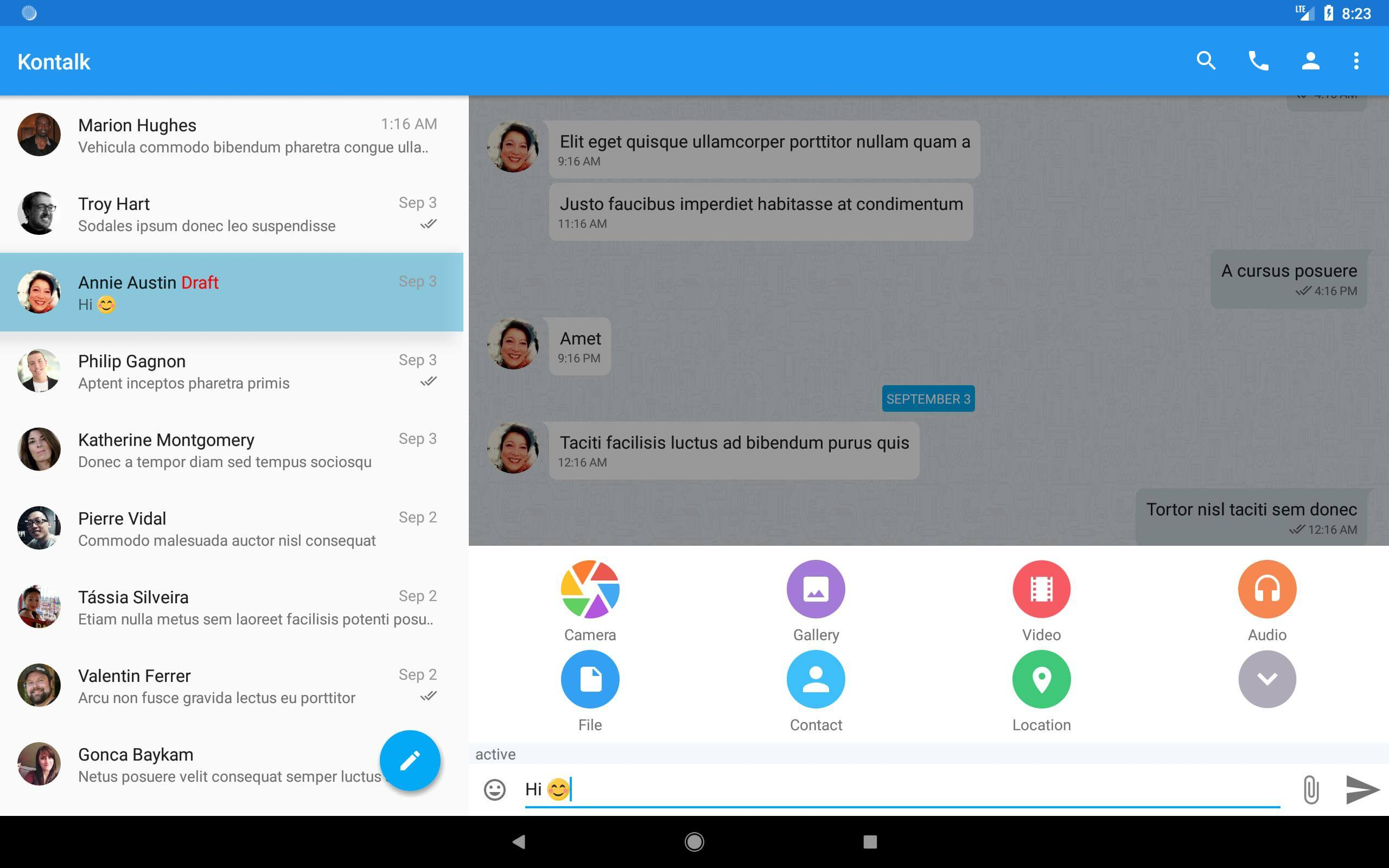 Kontalk - WhatsApp Alternatifi Uygulama