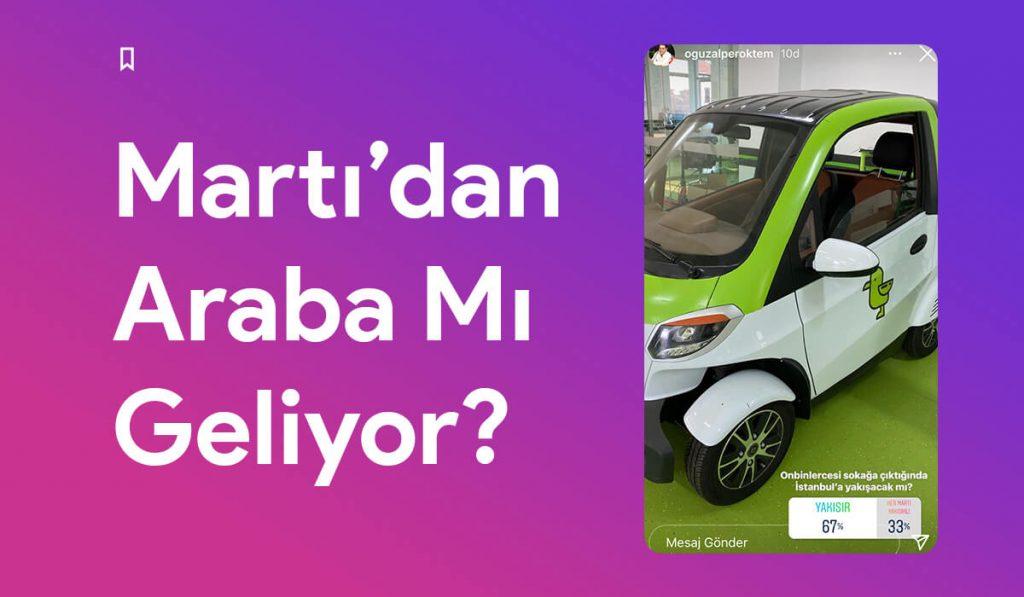 Martı'dan Elektrikli Araba Geliyor!