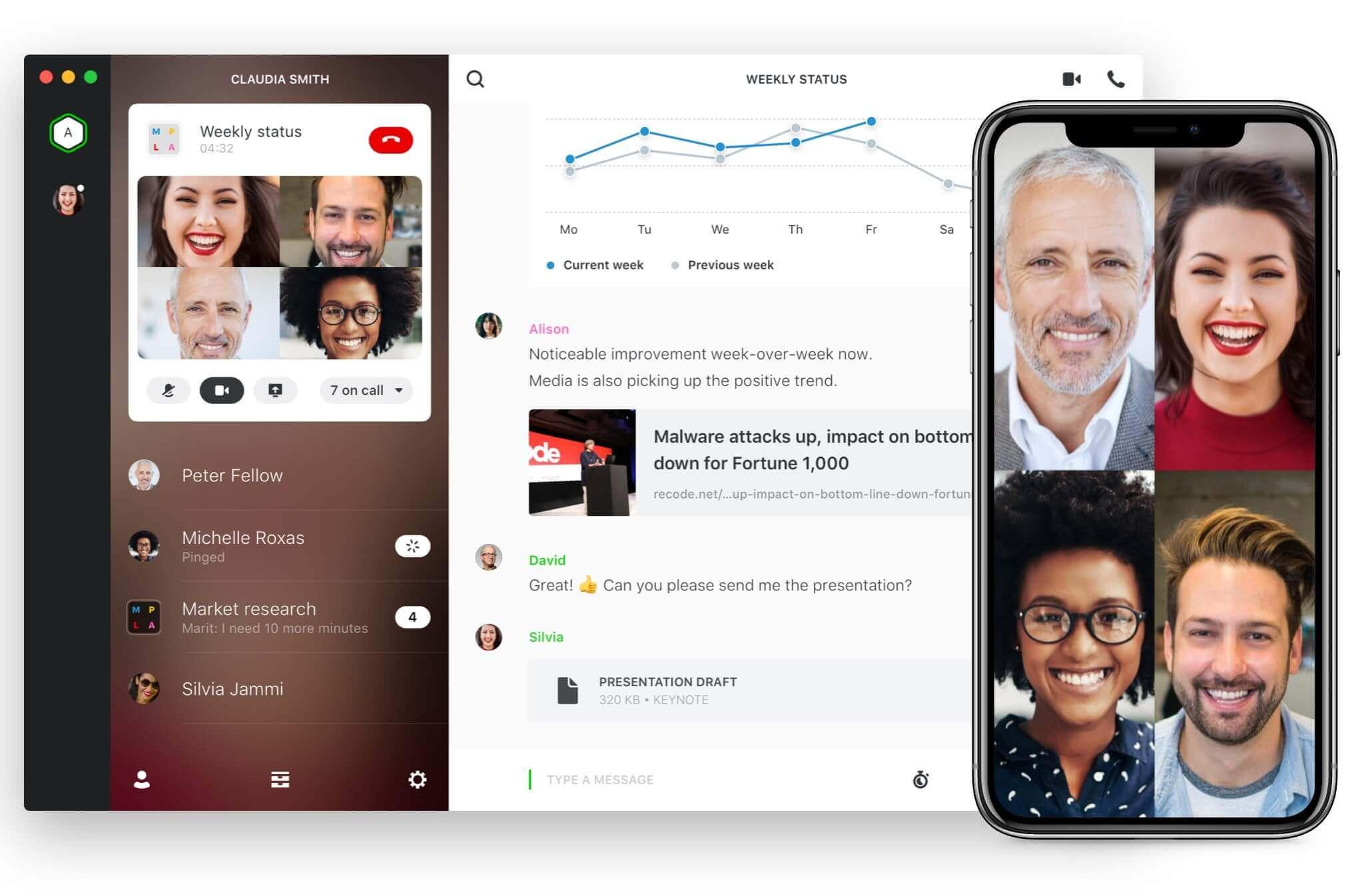 Wire Messenger - WhatsApp Alternatifi Uygulama