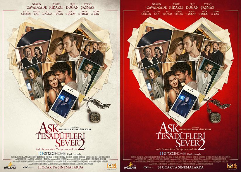 Aşk Tesadüfleri Sever 2 posterleri