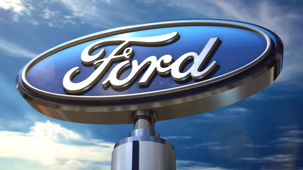 Ford Motor logosu ve gökyüzü