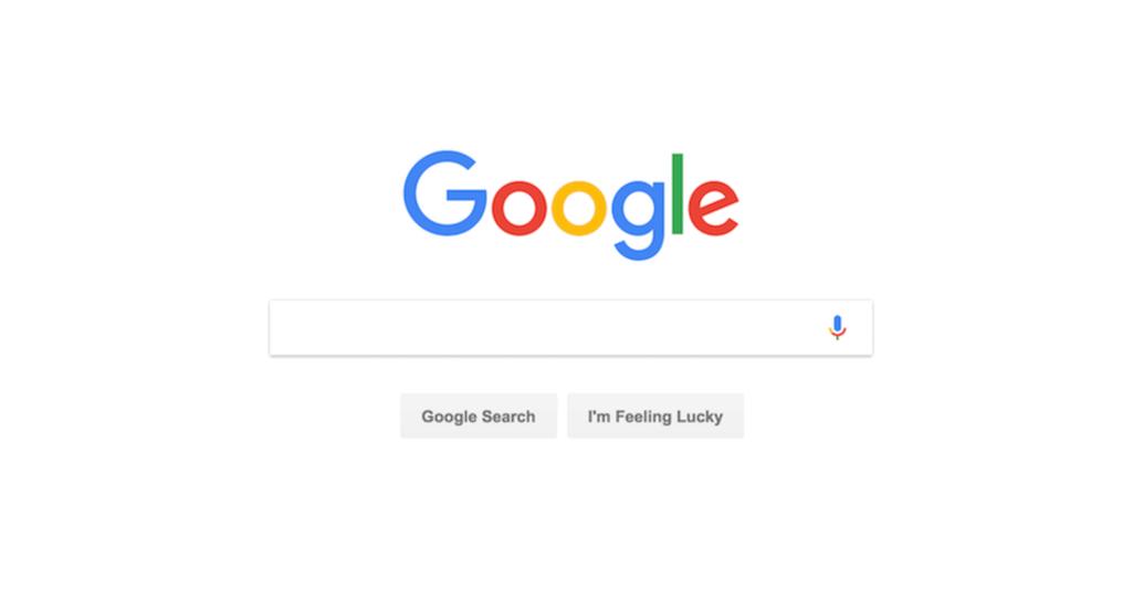 Google arama motoru sayfası