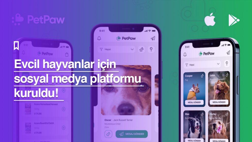 Evcil hayvanlar için sosyal medya platformu kuruldu: PetPaw